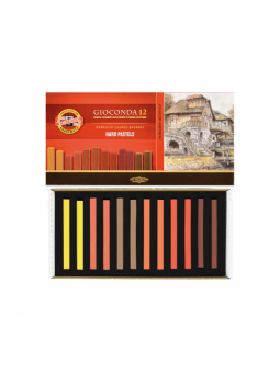 Gioconda---12-Hard-Pastels-Brown-Set