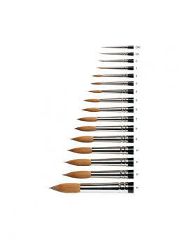 Series-7-Kolinsky-Sable-Brush---Round-[Short-Handle]