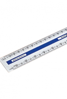 Plastic-Four-Bevel-(Flat)-Scale-15cm-BS-514