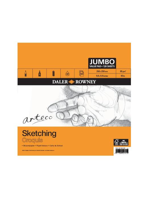 Arteco daler-rowney arteco jumbo sketching pad