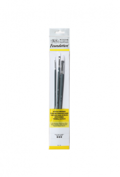 Foundation-Acrylic-Brush-(Long-Handle)---3-pack---Flat-2,4,6