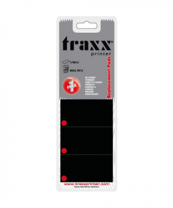 Traxx Printer Replacement Ink Pads Blister