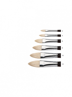 Winsor & Newton Azanta Black Brushes - Filbert