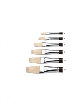 Winsor & Newton Azanta Black Brushes - Flat