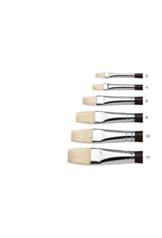 Winsor & Newton Azanta Black Brushes - Short Flat