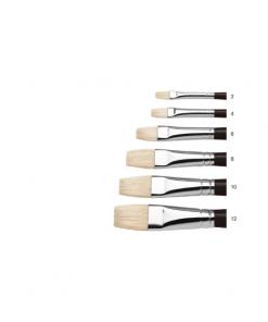 Winsor & Newton Azanta Black Brushes - Short Flat